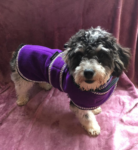 Sparkles Fleece Dog Coat