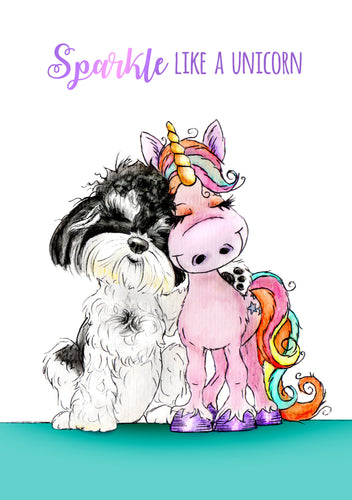 Sparkle Like A Unicorn A5 Wiro Notebook