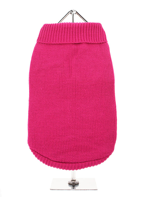 Pink Knitted Dog Jumper