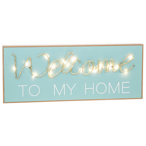 LED Welcome To My Home String Plaque