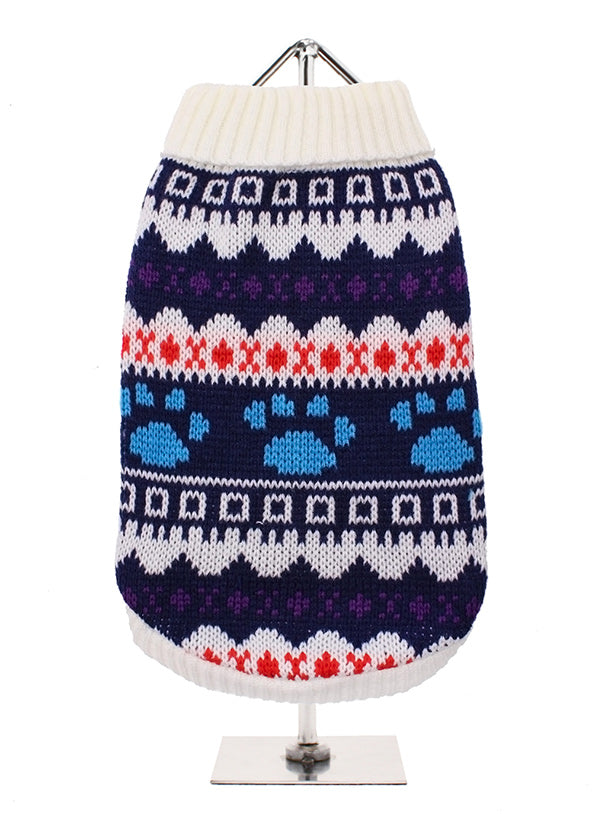 White Fairisle Dog Jumper