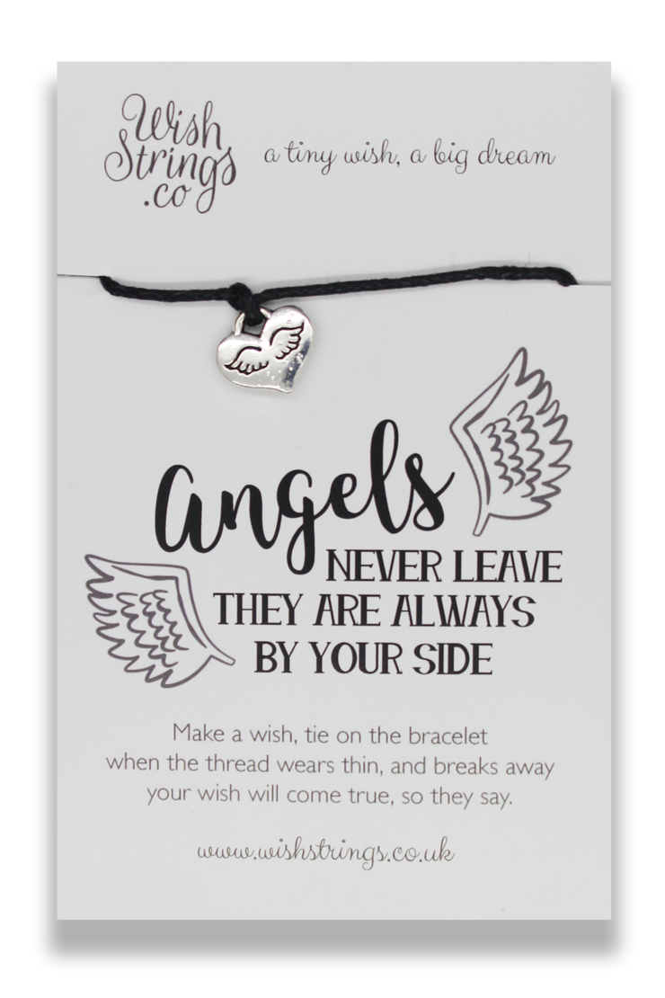 Angels Never Leave They Are Always By Your Side Wish Bracelet
