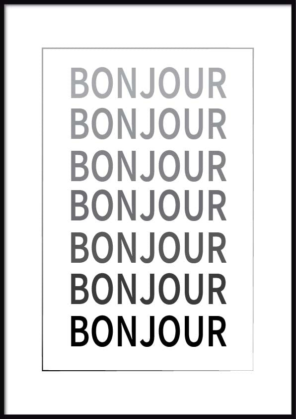 quotes bonjour poster