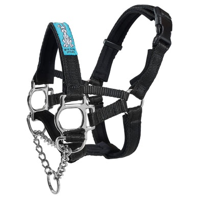 Dog Head Collar Black (with chain)