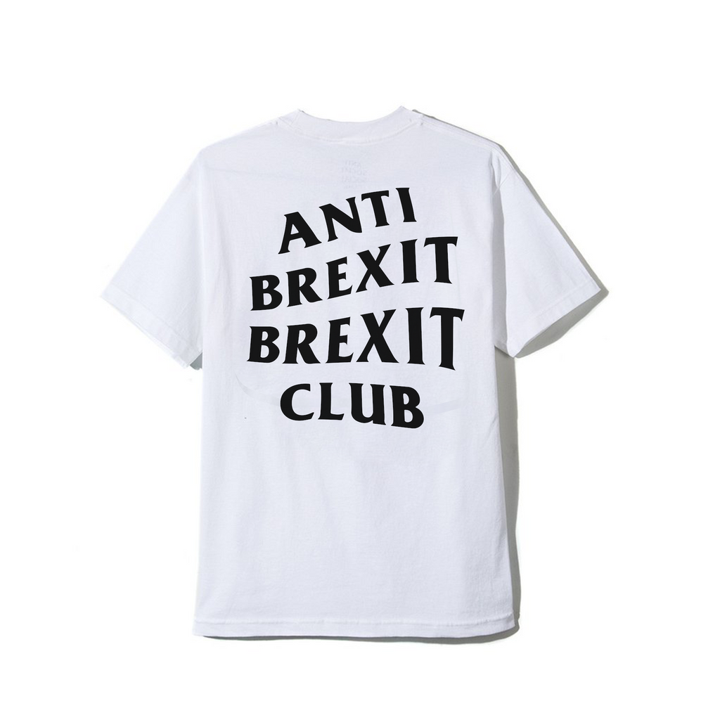 Anti Brexit Brexit Club T-Shirt - White