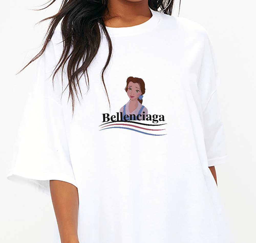 Bellenciaga Tee in White