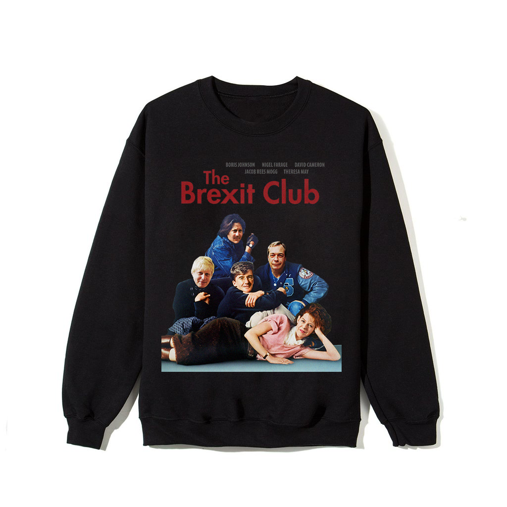 """The Brexit Club"" Sweatshirt - Black"