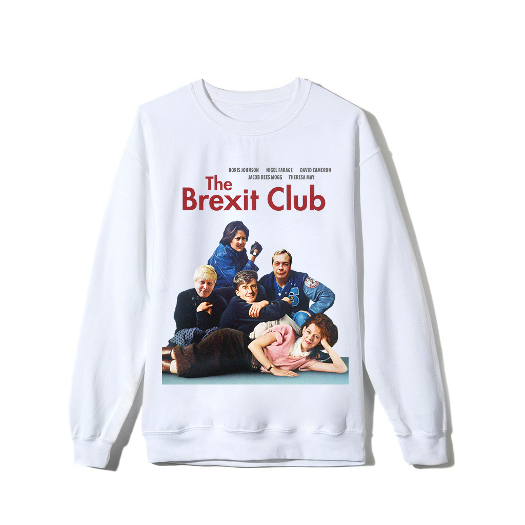 """Brexit Club"" Sweatshirt - White"
