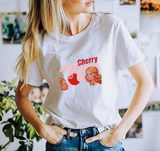 Cherry Up T-Shirt - White / Pink