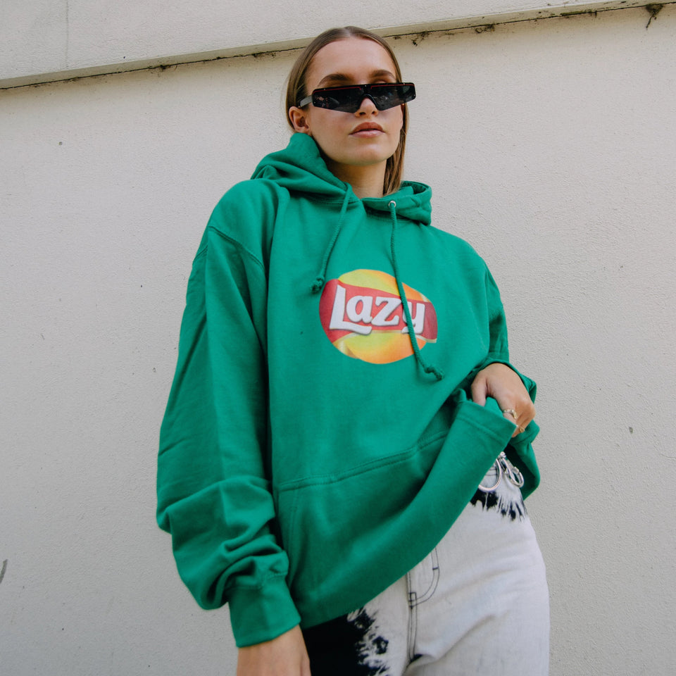Lazy Hoodie in Green / Yellow / Blu / Red