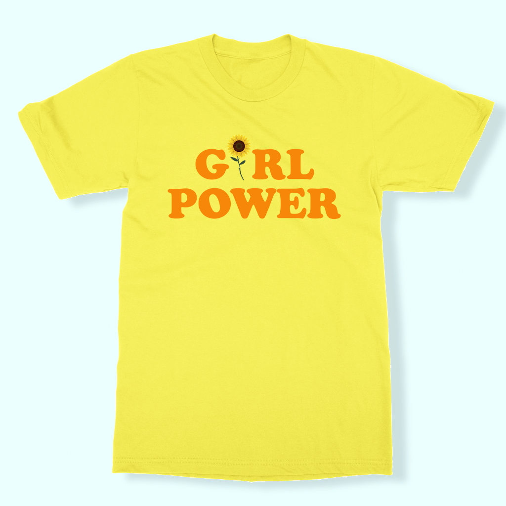 Girl Power Tee - Yellow