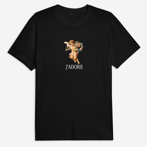 J'adore Tee in Black