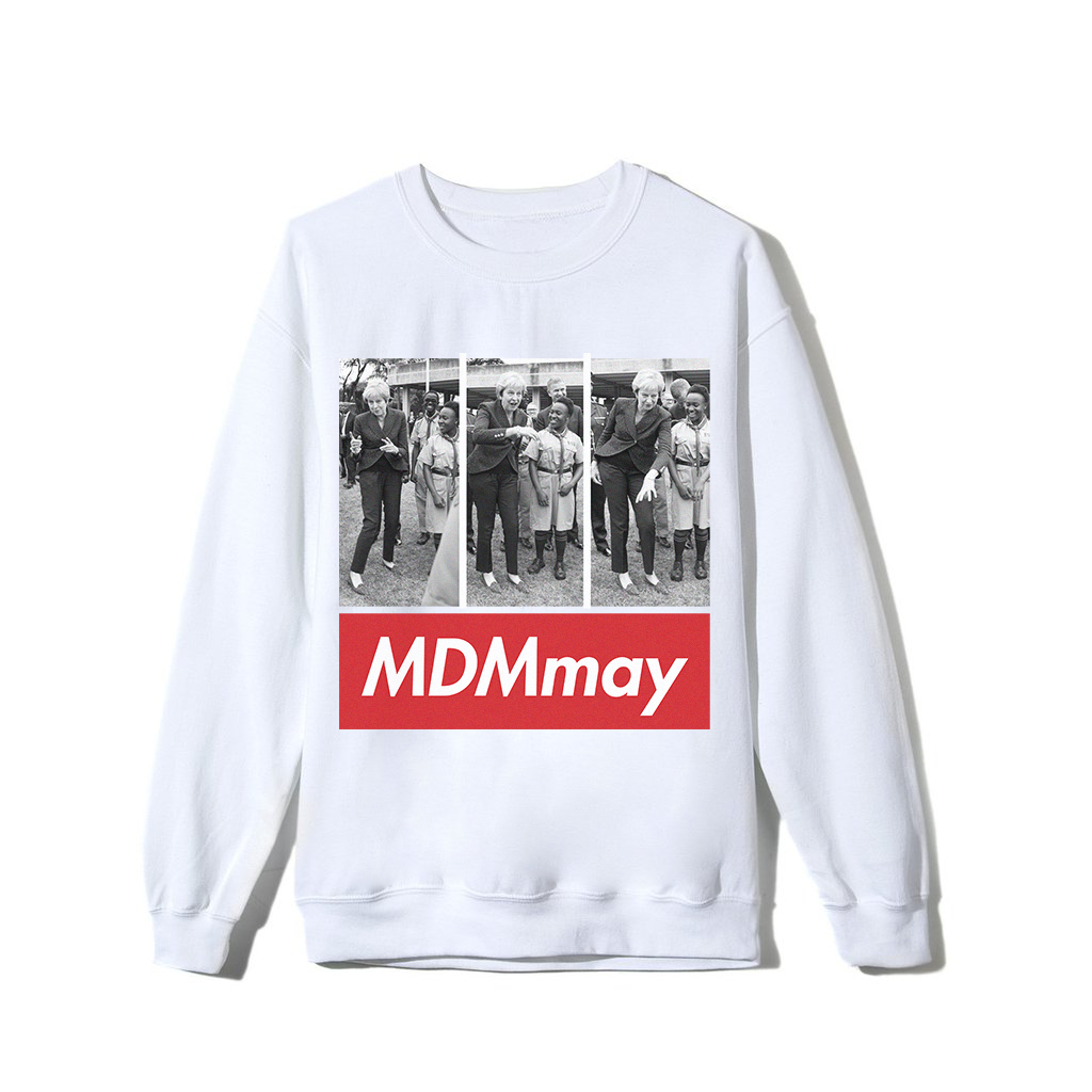 """MDMay"" Sweatshirt - White"