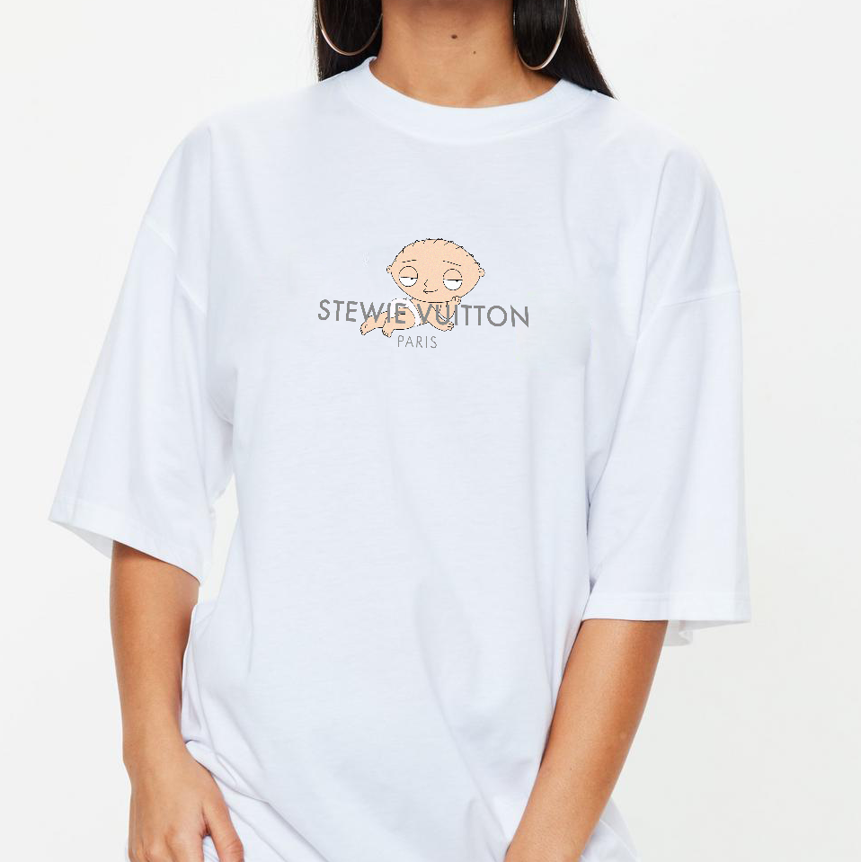 Stewie Vuitton Tee in White