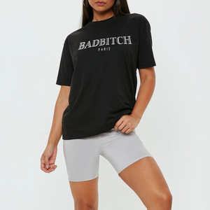 Badbitch Tee in Black