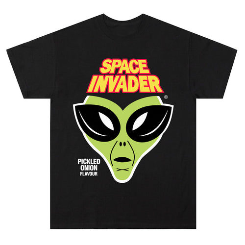 Space Invader Tee in Black