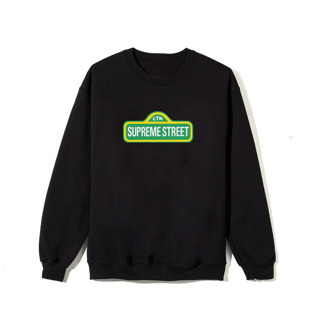 Supreme Street Sweatshirt - Black
