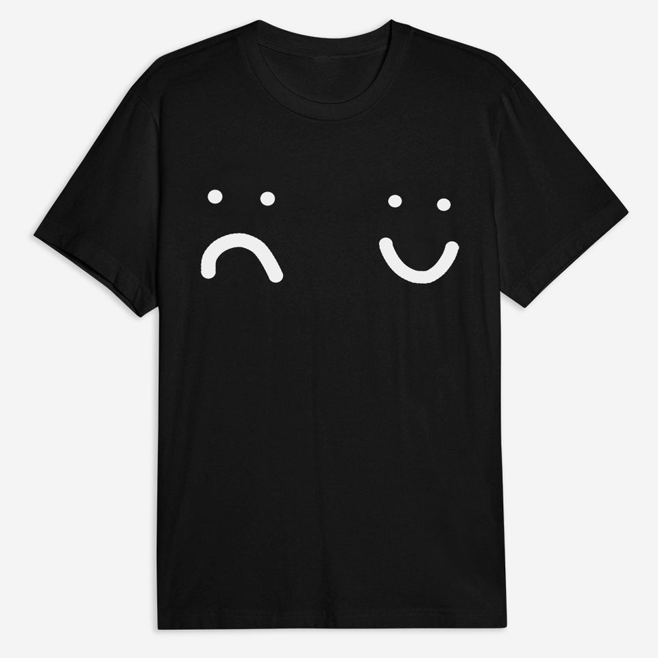 Happy or Sad T-Shirt - Black