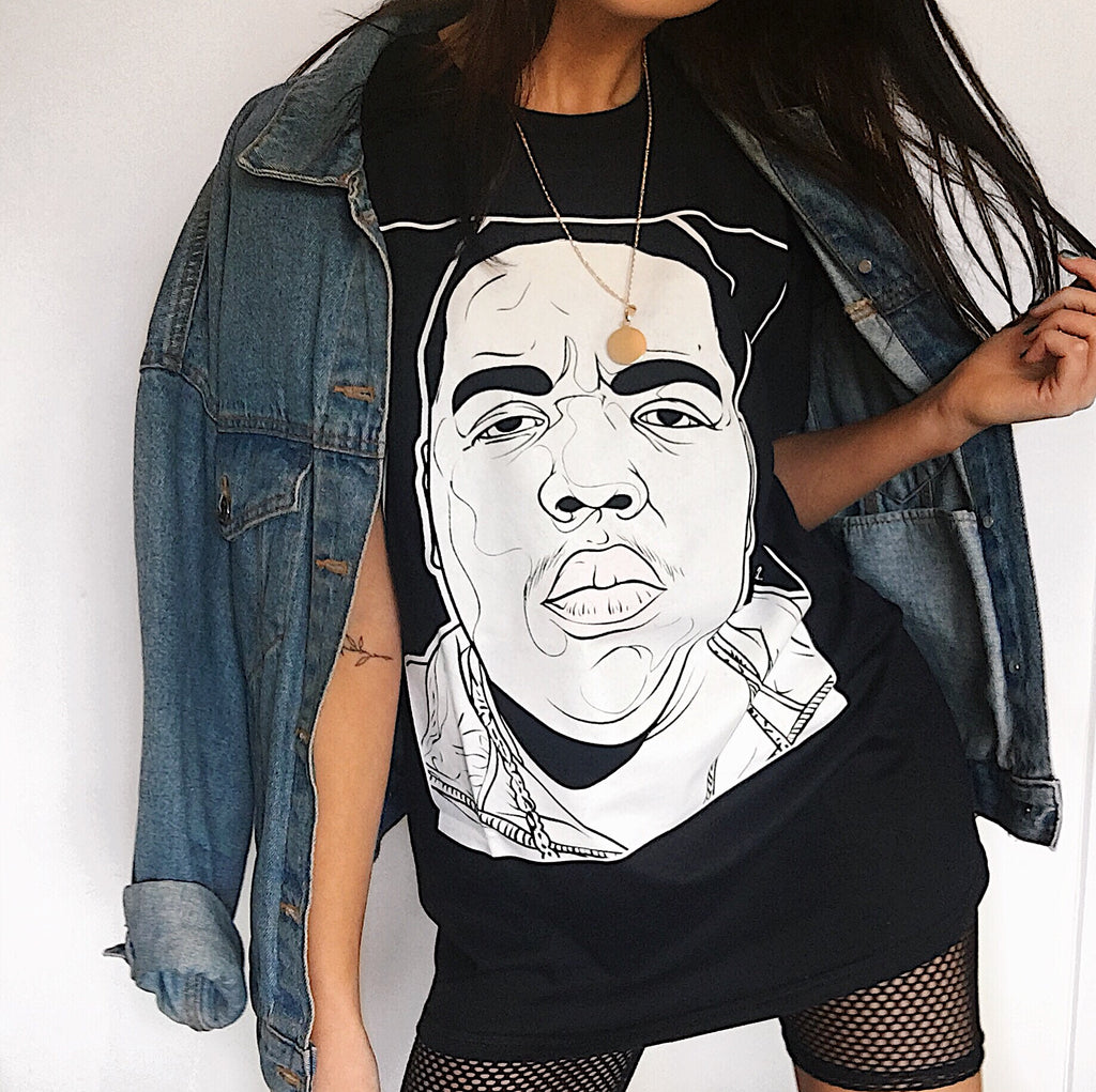 Biggie Print Tee - Black