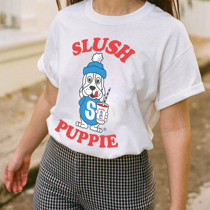 """Slush Puppy"" Tee in White"
