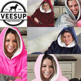 Oversized Hoodie Fleece Sherpa Blanket Sweatshirt