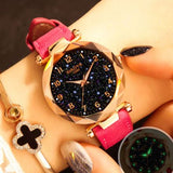 Fashion Women Watches 2019 Best Sell Star Sky Dial Clock Luxury Rose Gold Women's Bracelet Quartz Wrist Watches