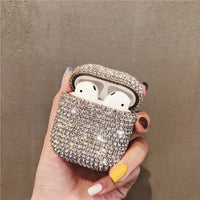 Luxury 3D Bling diamonds hard case for Apple Airpods 1 2  protective Wireless Bluetooth Earphone Accessories cover Charging box