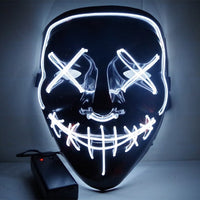 2019 Electroluminescent Masks for Halloween, Parties, Raves and more!