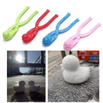 Cartoon Duck Snowball Maker Clip Kids Winter Outdoor Sports Snow Sand Mold Fight Outdoor Sport Tool Toy Sports Kids Toy
