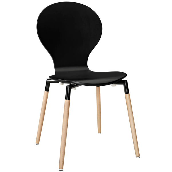 DIPPER DINING WOOD SIDE CHAIR IN BLACK
