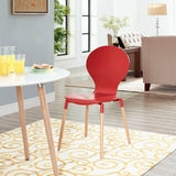 DIPPER DINING WOOD SIDE CHAIR IN RED
