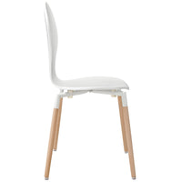 DIPPER DINING WOOD SIDE CHAIR IN WHITE