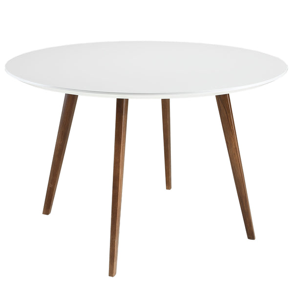 BLIXON ROUND DINING TABLE IN WHITE