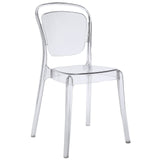 VANTAGE DINING SIDE CHAIR IN CLEAR