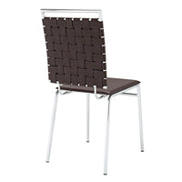 PLIO DINING SIDE CHAIR IN BROWN