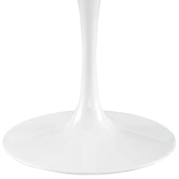 "DIMA 54"" ROUND WOOD TOP DINING TABLE IN WHITE"
