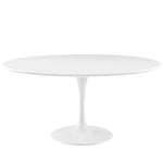 "DIMA 60"" ROUND WOOD TOP DINING TABLE IN WHITE"