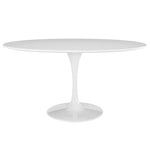 "DIMA 60"" OVAL WOOD TOP DINING TABLE IN WHITE"