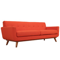 MALIX UPHOLSTERED FABRIC SOFA IN ATOMIC RED