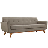 MALIX UPHOLSTERED FABRIC SOFA IN GRANITE
