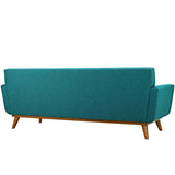 MALIX UPHOLSTERED FABRIC SOFA IN TEAL
