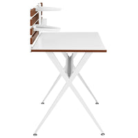 SLATTE WOOD OFFICE DESK IN CHERRY
