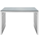 MARADO STAINLESS STEEL OFFICE DESK IN SILVER