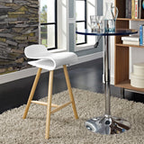 CLIPPE BAR STOOL IN WHITE