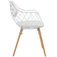BIKNOV DINING METAL ARMCHAIR IN WHITE WHITE