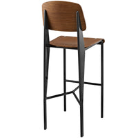 MIO BAR STOOL IN WALNUT