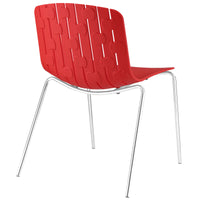 SLICE DINING SIDE CHAIR IN RED