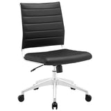 VALLIX ARMLESS MID BACK OFFICE CHAIR IN BLACK