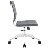 VALLIX ARMLESS MID BACK OFFICE CHAIR IN GRAY