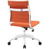 VALLIX ARMLESS MID BACK OFFICE CHAIR IN ORANGE